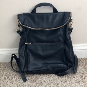 Handbags - Black faux leather backpack